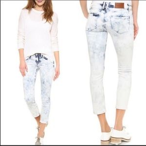 Madewell Acid Storm Wash Cropped Skinny Jeans